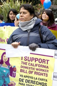 Domestic Workers and Their Children March to Support Their Bill of Rights